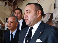 Mohammed VI in café Argana te Marrakesh